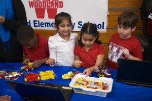 Elementary students at STEM Event